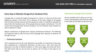 Some Step to Maintain Garage Door Hardware Parts