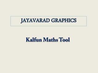 Kalfun Maths Tool
