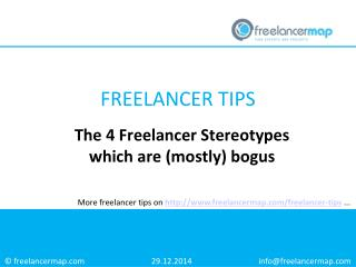 The 4 Freelancer Stereotypes which are (mostly) bogus