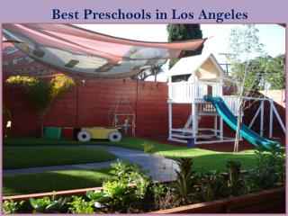 Best Los Angeles Preschools in California