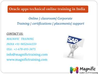 Oracle apps technical online training in India
