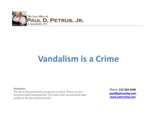 Vandalism is a Crime