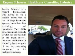Eugene Scheurer - Healthcare Consulting Industry