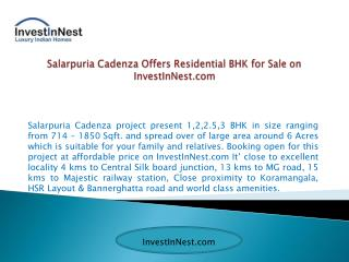 Booking For Luxury Apartments at low Cost – InvestInNest.com