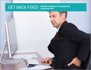 Inversion Treatment Of Low Back Pain