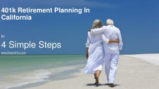 401k Retirement Planning In 4 Simple Steps