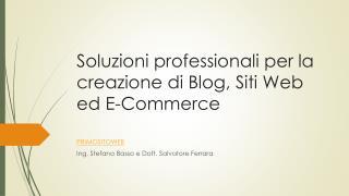 Progettazione e realizzazione siti web, e-commerce