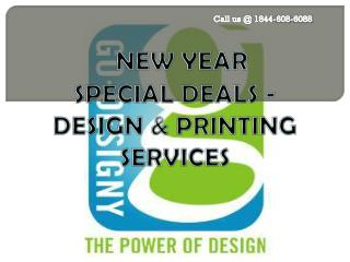 New Year Special Deals On Designing And Printing Services