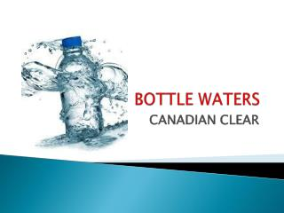 Best Bottle Water Manufacturer and Suppliers