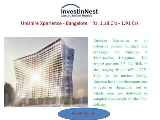 Book Now Apartment at Unishire Xperience – Bangalore