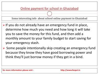 The best advice for online payment for school in Ghaziabad