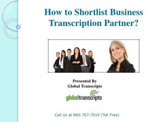 How to Shortlist Business Transcription Partner?