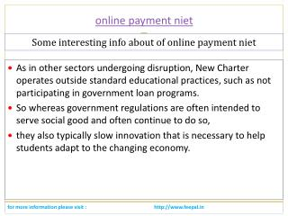 All kind of school fee submitted with online payment niet
