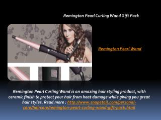 Remington Pearl Curling Wand Gift Pack