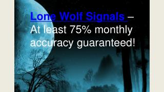 Lone Wolf Signals review