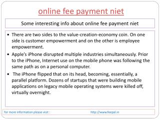 one of the best place of online fee payment niet