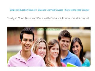 Study at Your Time and Pace with Distance Education