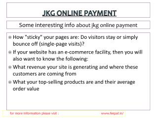 Some new chnages about jkg online payment