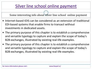 Best review site of silver line school online payment