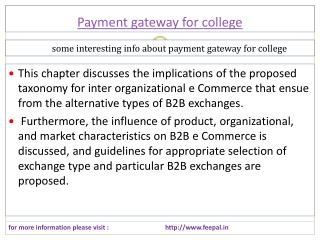 Secure website of payment gateway for college