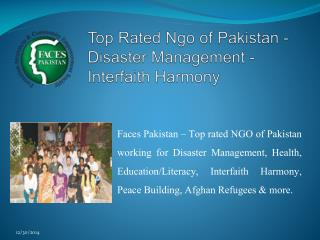 Top Rated Ngo of Pakistan - Disaster Management