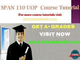 SPAN 110 Course Tutorial / tutorialoutlet