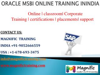 oracle msbi online training classes in hyderabad