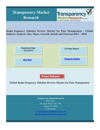 Radio frequency Ablation Devices Market for Pain Management