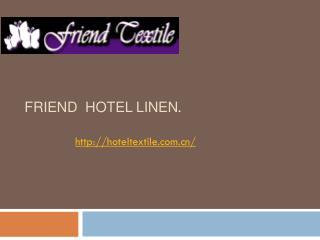 Hotel linen wholesale