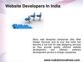 Best Website Developers In India