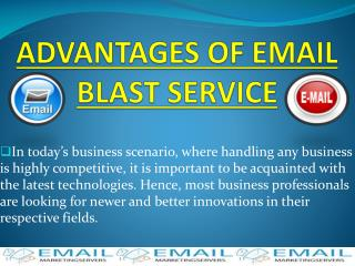 Advantages Of  Email  Blast  Service