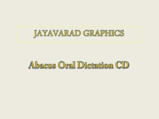 Abacus Oral Dictation CD