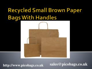 Suppliers of Recycled Small Brown paper carrier Bags