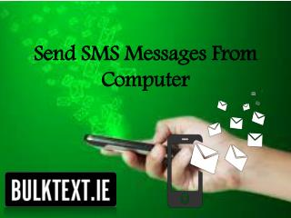 Send text message from computer