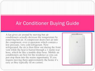 Air conditioner buying tips