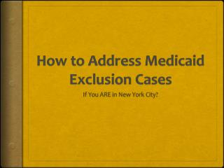 Get Reinstated As Medicaid Provider In New York