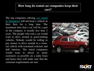 How long do rental car companies keep their cars?