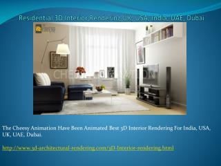 3D Interior Rendering UK, USA, UAE, India, Dubai.