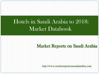 Hotels in Saudi Arabia to 2018: Market Databook