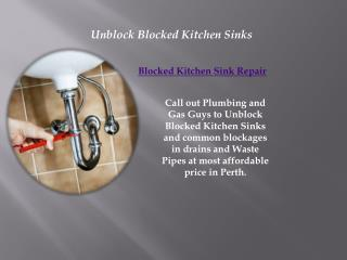 Unblock Blocked Drain and Waste Pipes