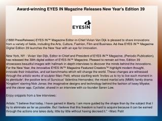 Award-winning EYES IN Magazine Releases New Year