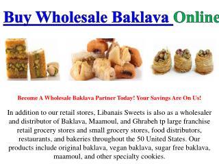 Buy Wholesale Baklava Online