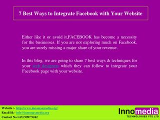 7 Best Ways to Integrate Facebook with Your Website