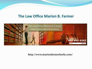 Criminal defense attorney Hammond LA