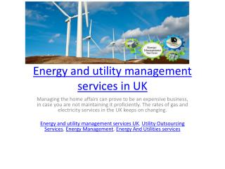 Energy and utility management services in UK