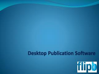 Online Desktop Publishing Software for Manuals