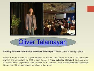 Oliver Talamayan Review