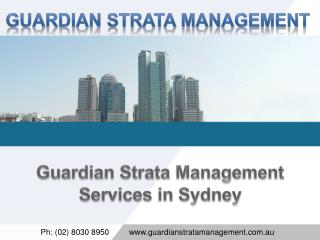Guardian Strata Management Services in Sydney