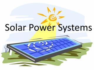 Solar Power Systems