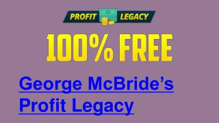 Profit Legacy (International) and Profit Legacy (Top 5)!